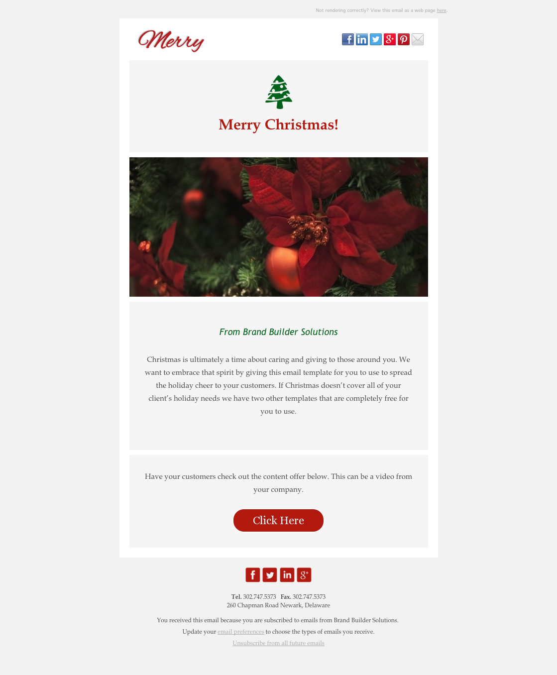 merry christmas email hubspot template - Merry Christmas Email